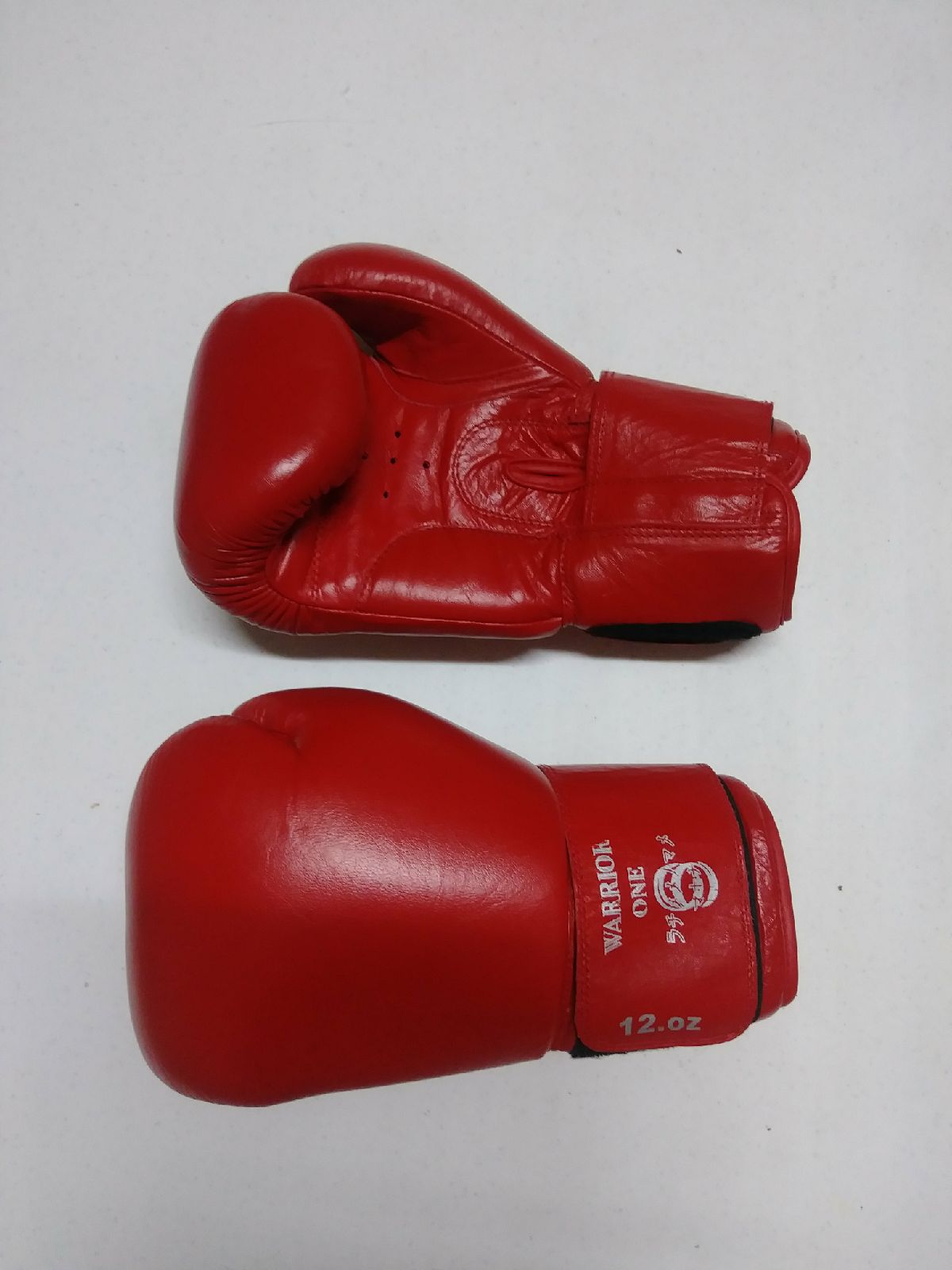 Leather Boxing Kickboxing Gloves Red 12