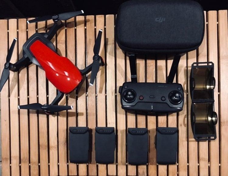 DJI mavic air RED - 4 batteries