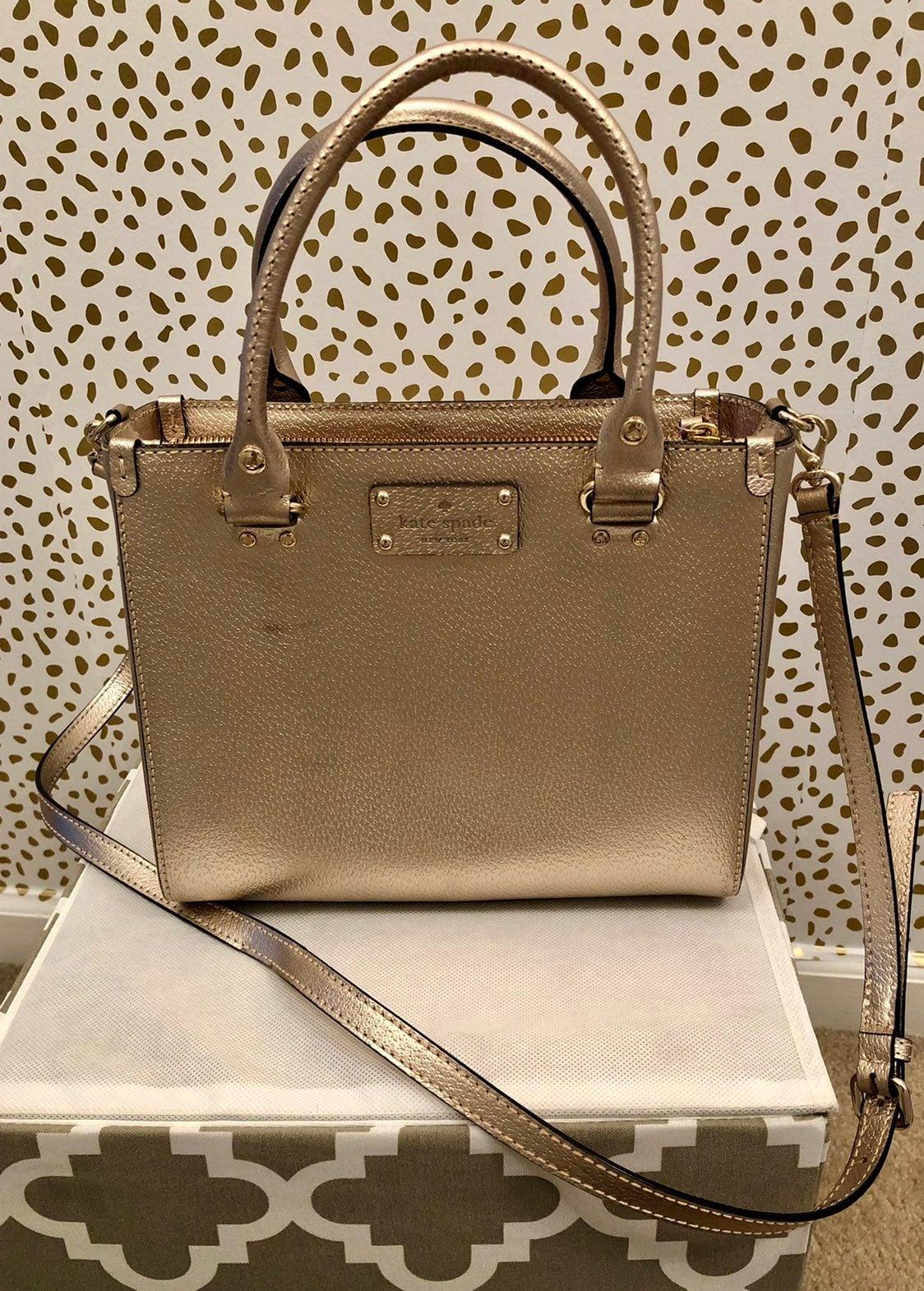 Kate Spade Gold/Rose gold Shoulder bag