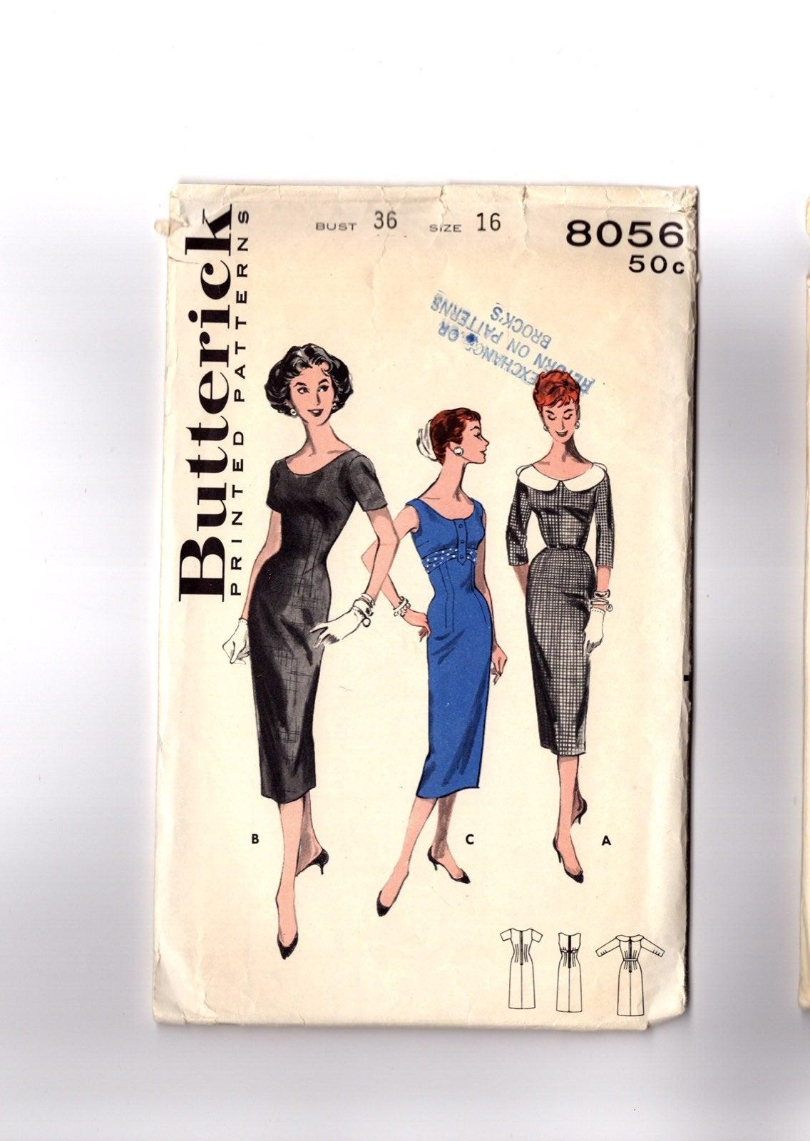 Vintage 1960s Pattern Sheath Dress