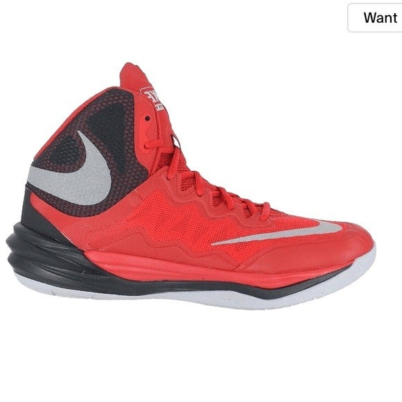 NIKE Prime Hype DF 2 Red 8.5 High Top