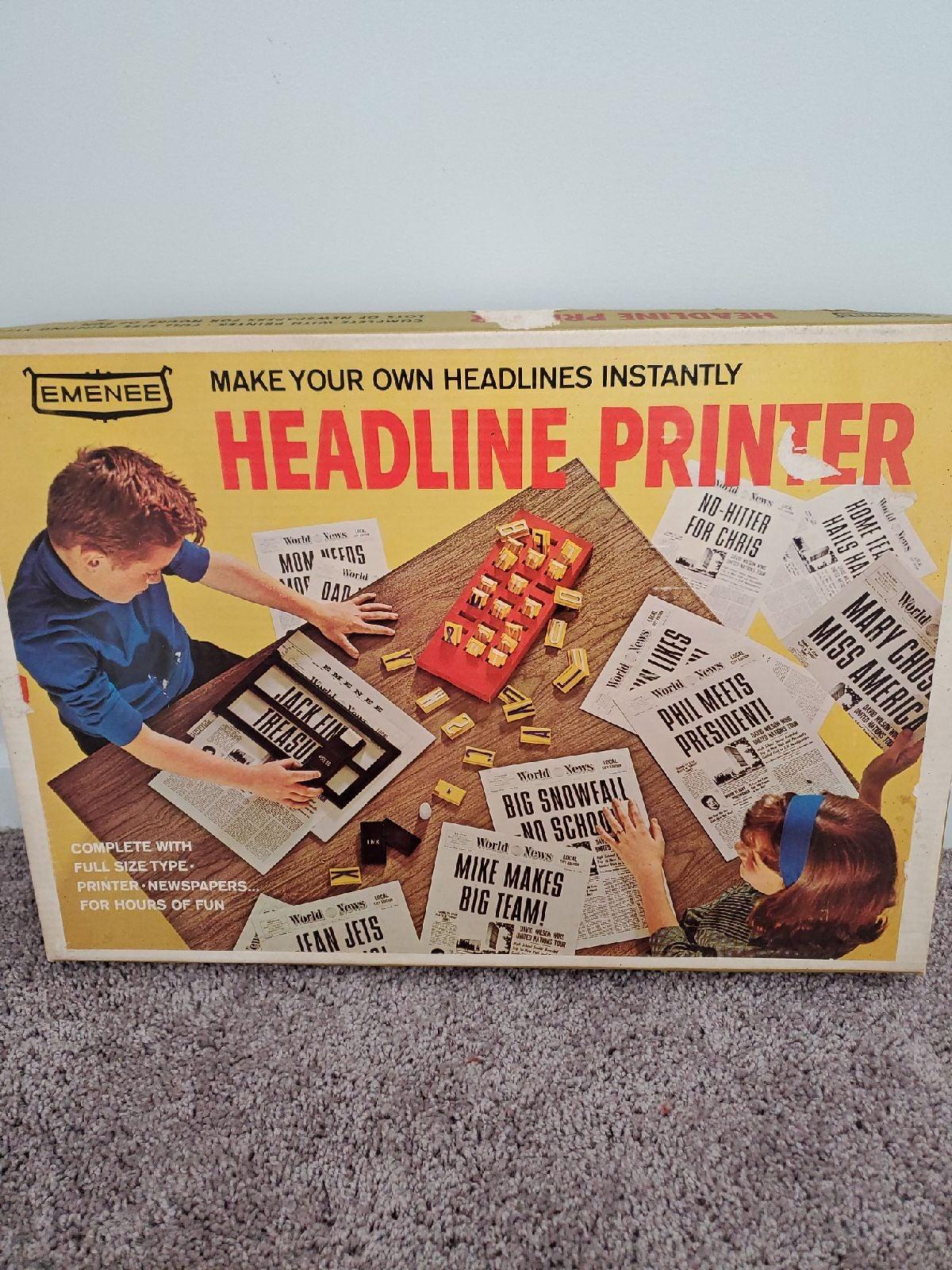 Rare Emenee vintage 60s headline printer