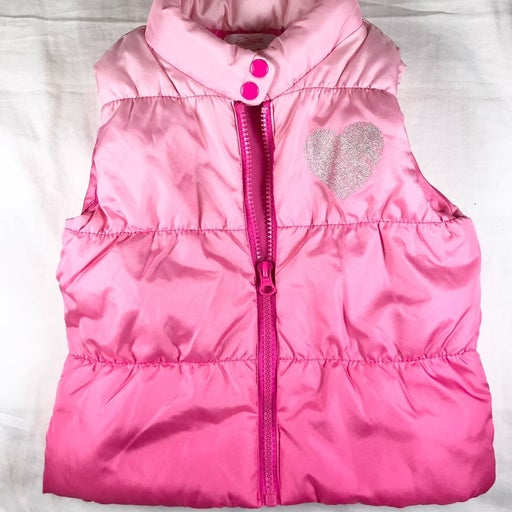 Little Girl's Pink Ombre Puffer Vest 5