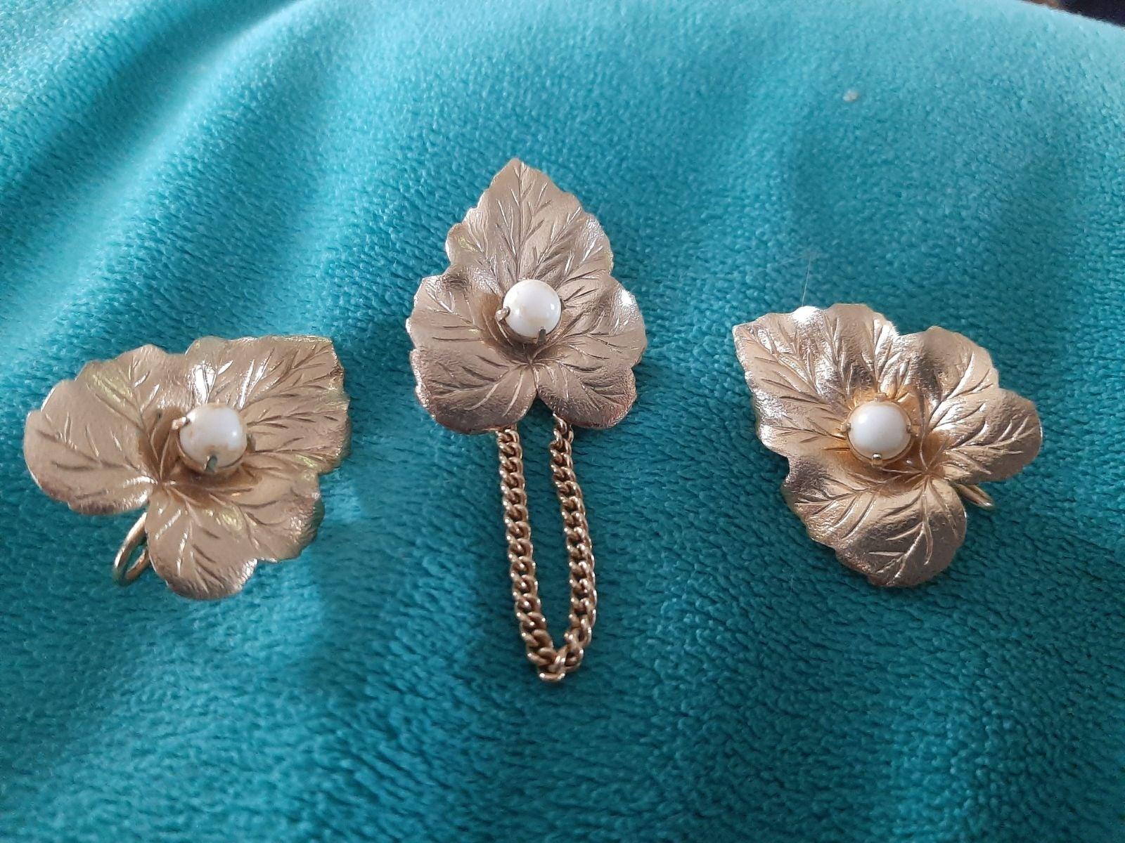 Vintage Earrings and brooch