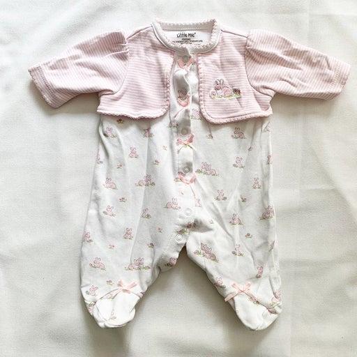 Little Me one piece jammies - preemie