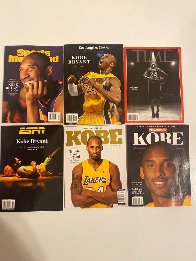6 lot Kobe Bryant Magazines