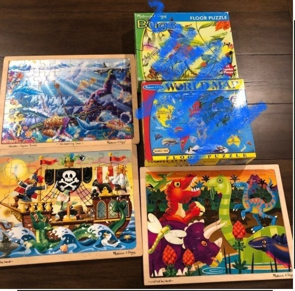 Lot of Melissa and Doug Puzzles