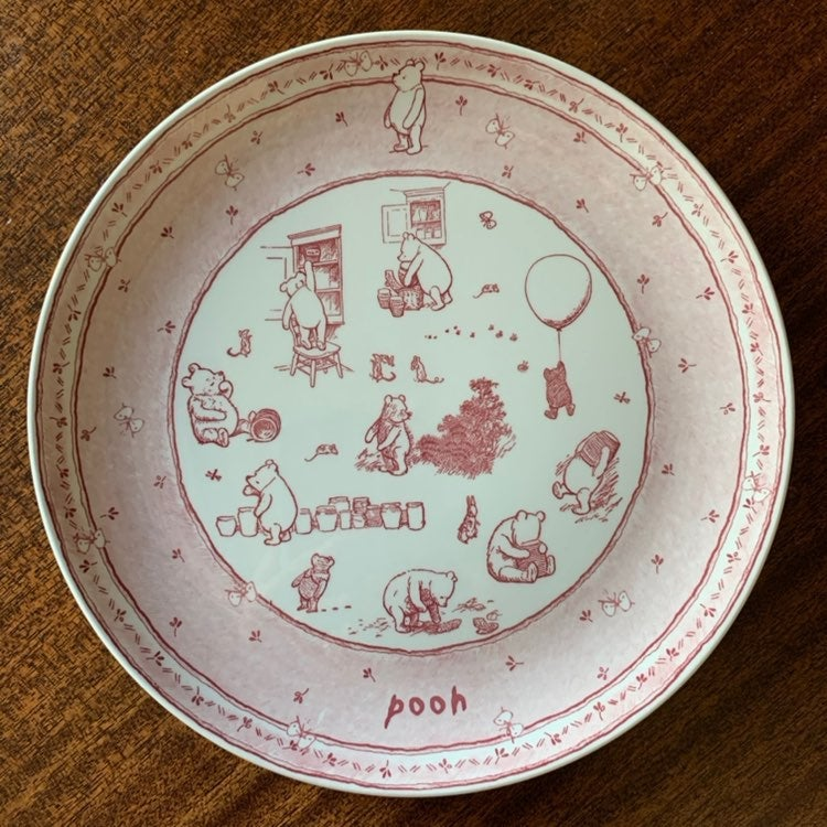 Spode Classic Pooh Discovery Plate Pink