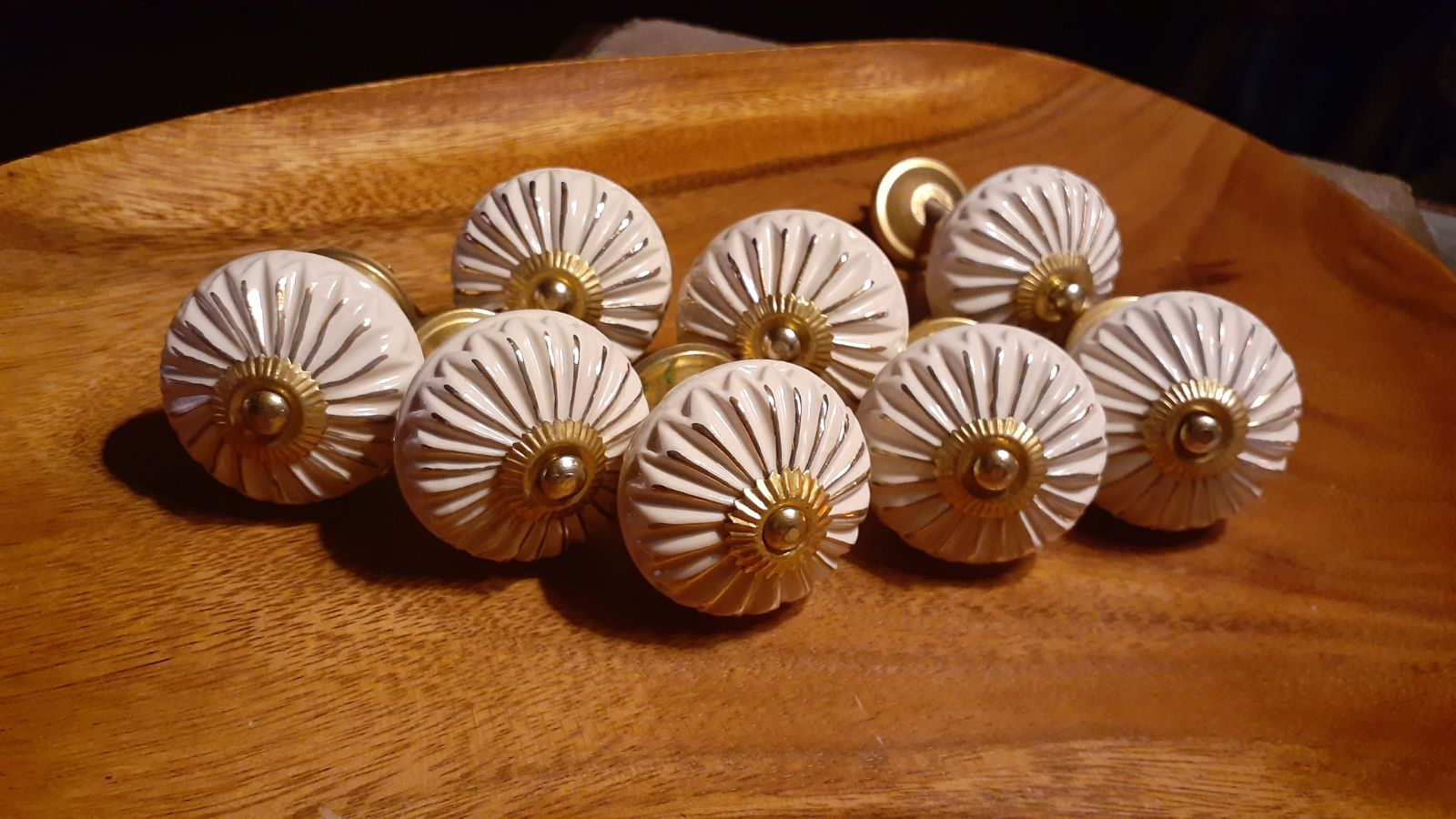 Ceramic and brass Set of XL Knobs