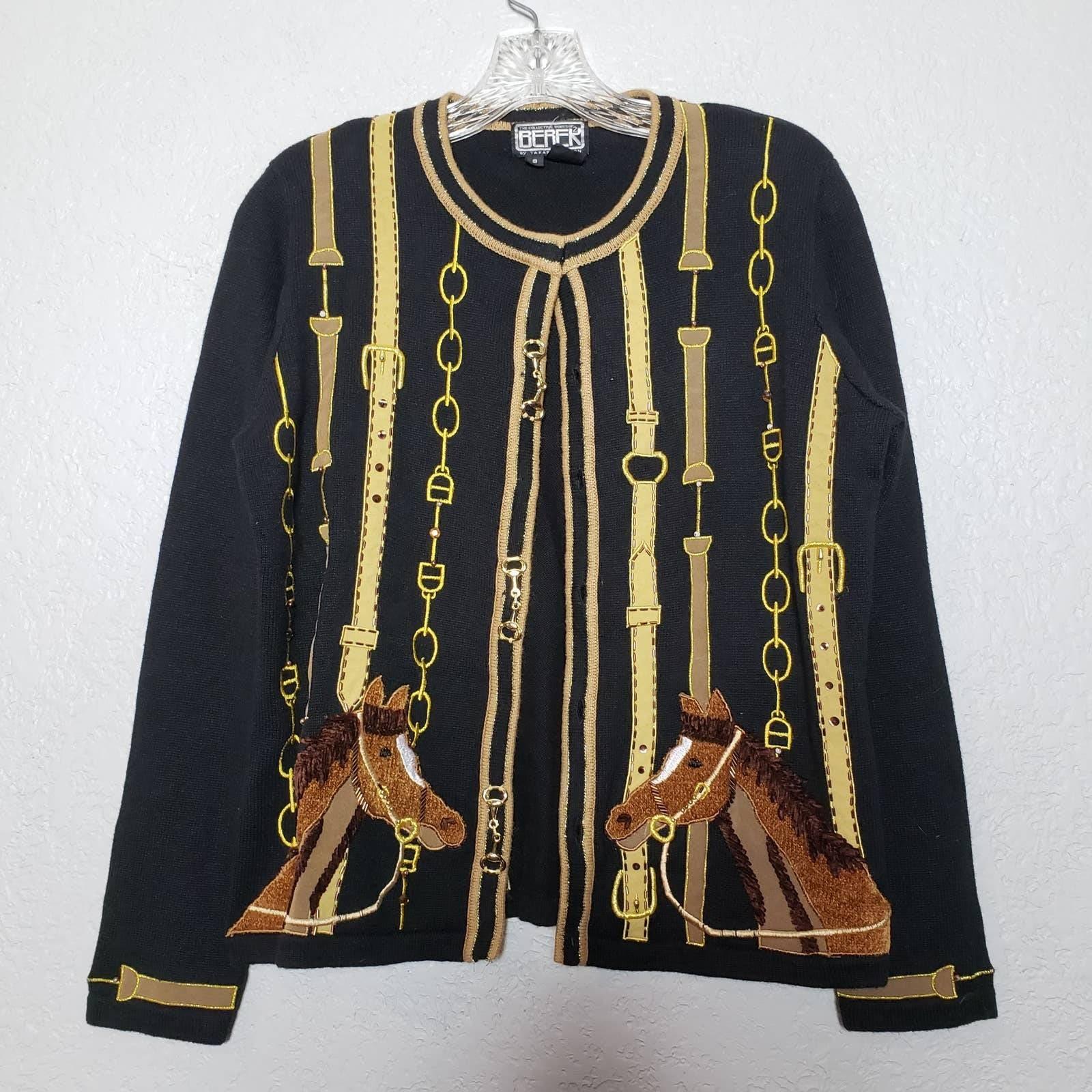 Vintage Berek Horse Sweater - S