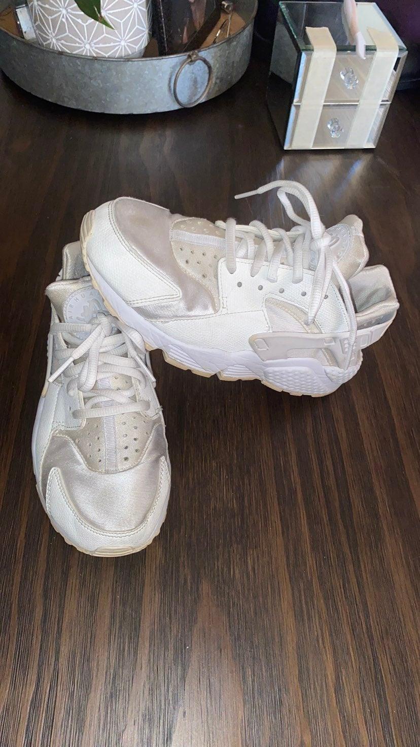 Nike Air Huarache White/White-Pure Plati