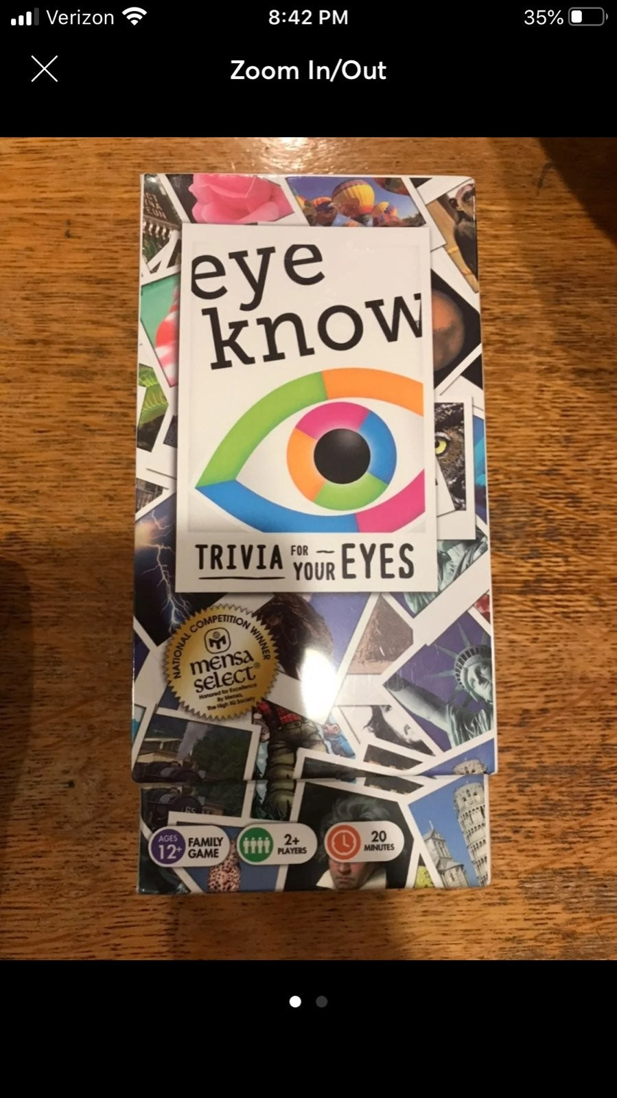 New Eye Know Trivia Game