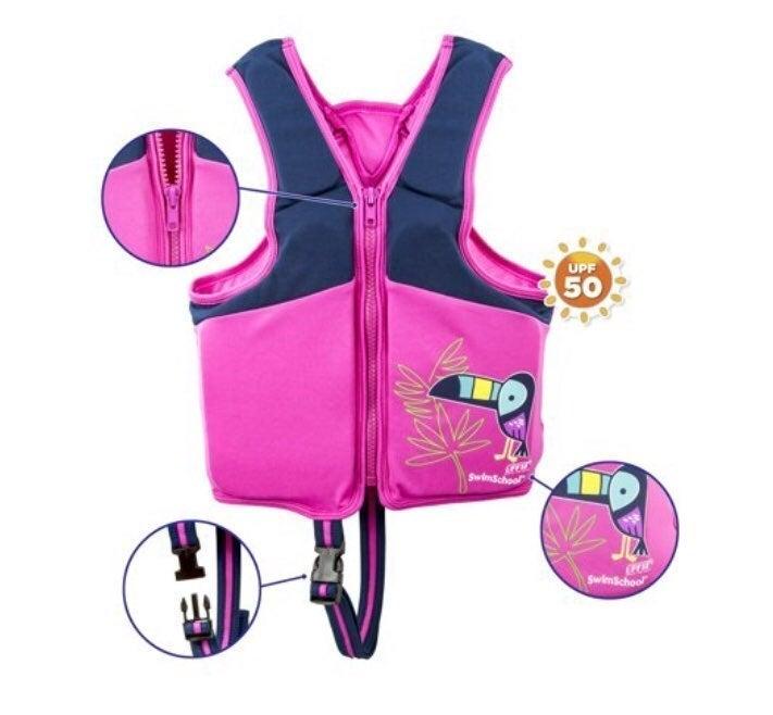 Girls swim vest