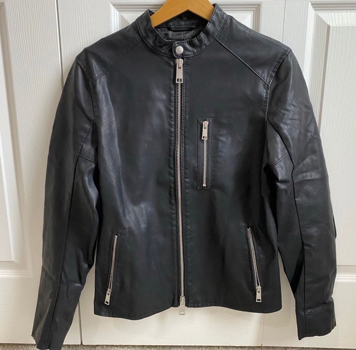 Armani Exchange Men's Leather Jacket S