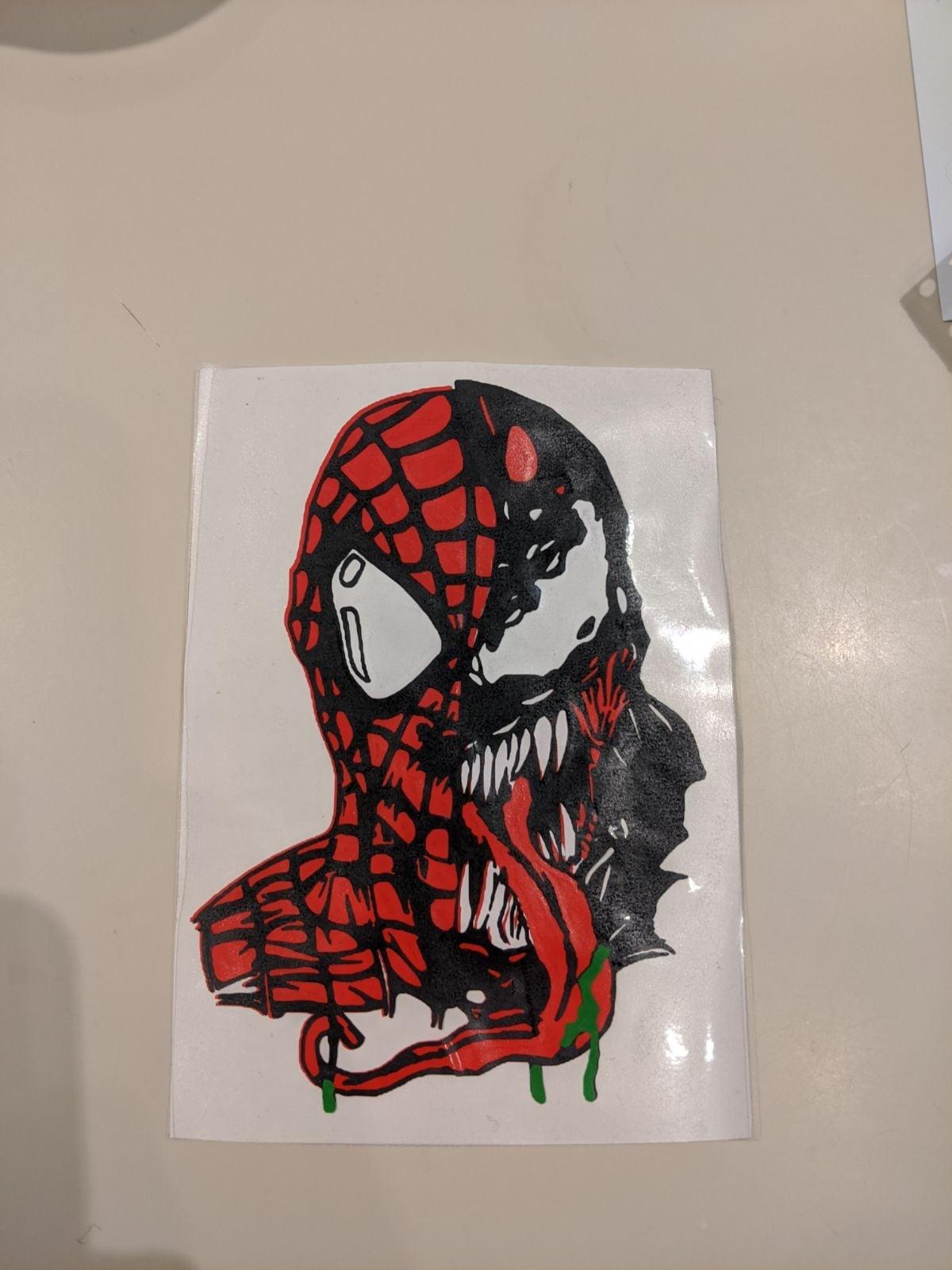 venomized spiderman vinyl decal