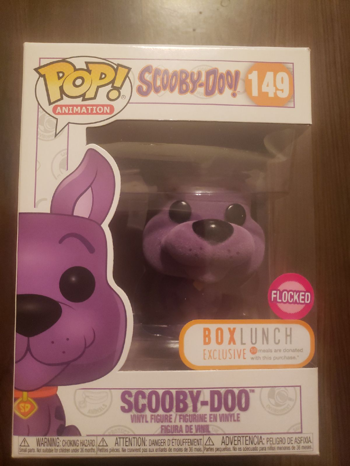 Scooby Doo Flocked Purple Funko