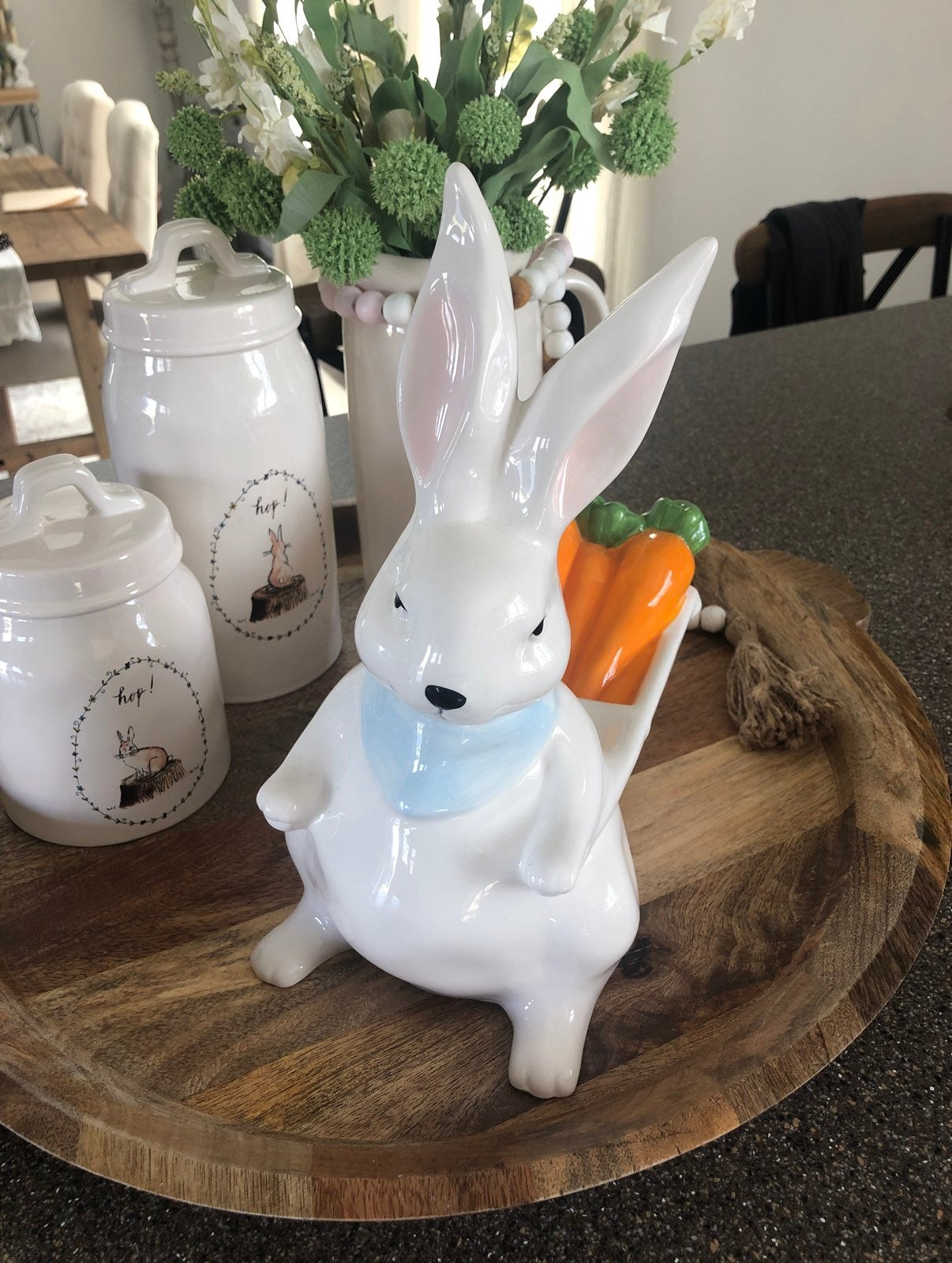 Rae dunn SPRING Bunny with Carrot Basket