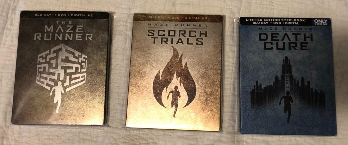Maze runner trilogy steelbooks