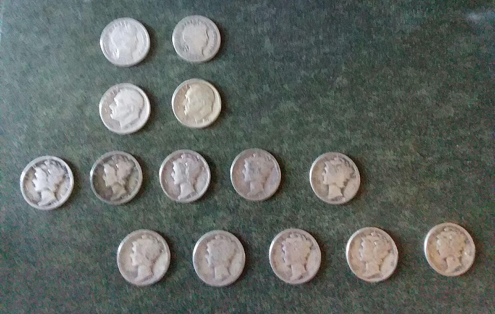 #20 U.S. Silver Dimes