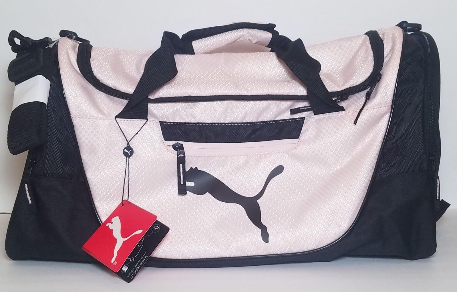 Puma Candidate Sport Duffel Bag Pink Blk