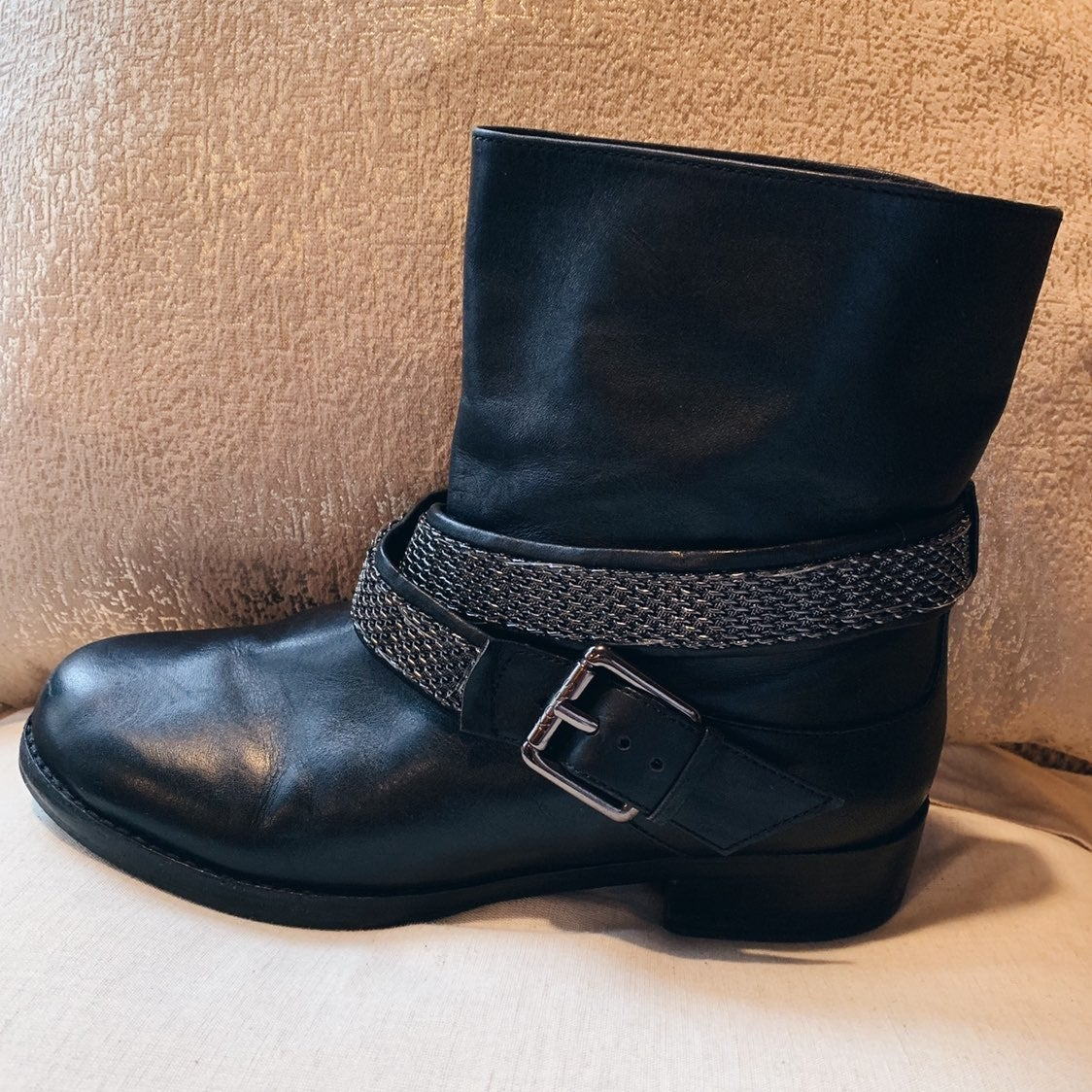 DOLVE VITA BLACK ANKLE BOOTS