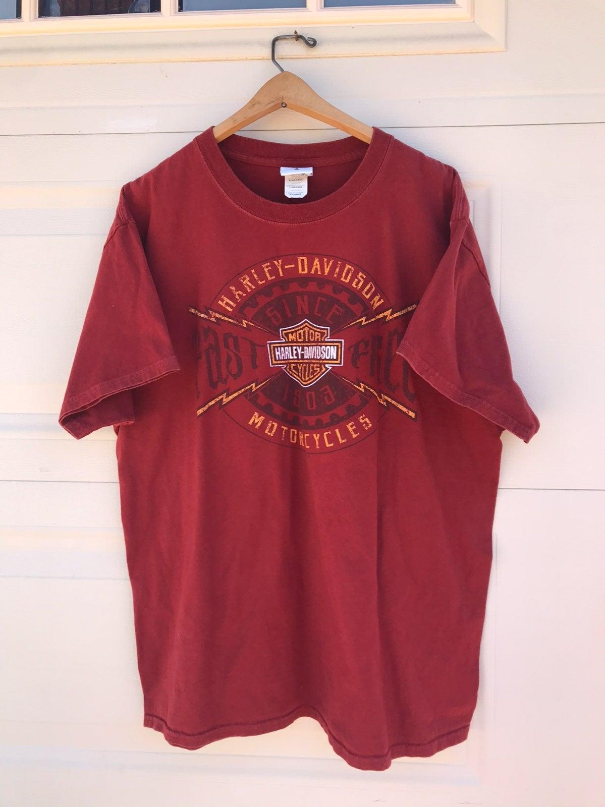 Harley davidson t shirt XL orange