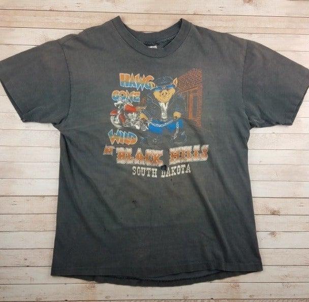 VTG 80s Hawg Gone Wild Biker Tee Shirt