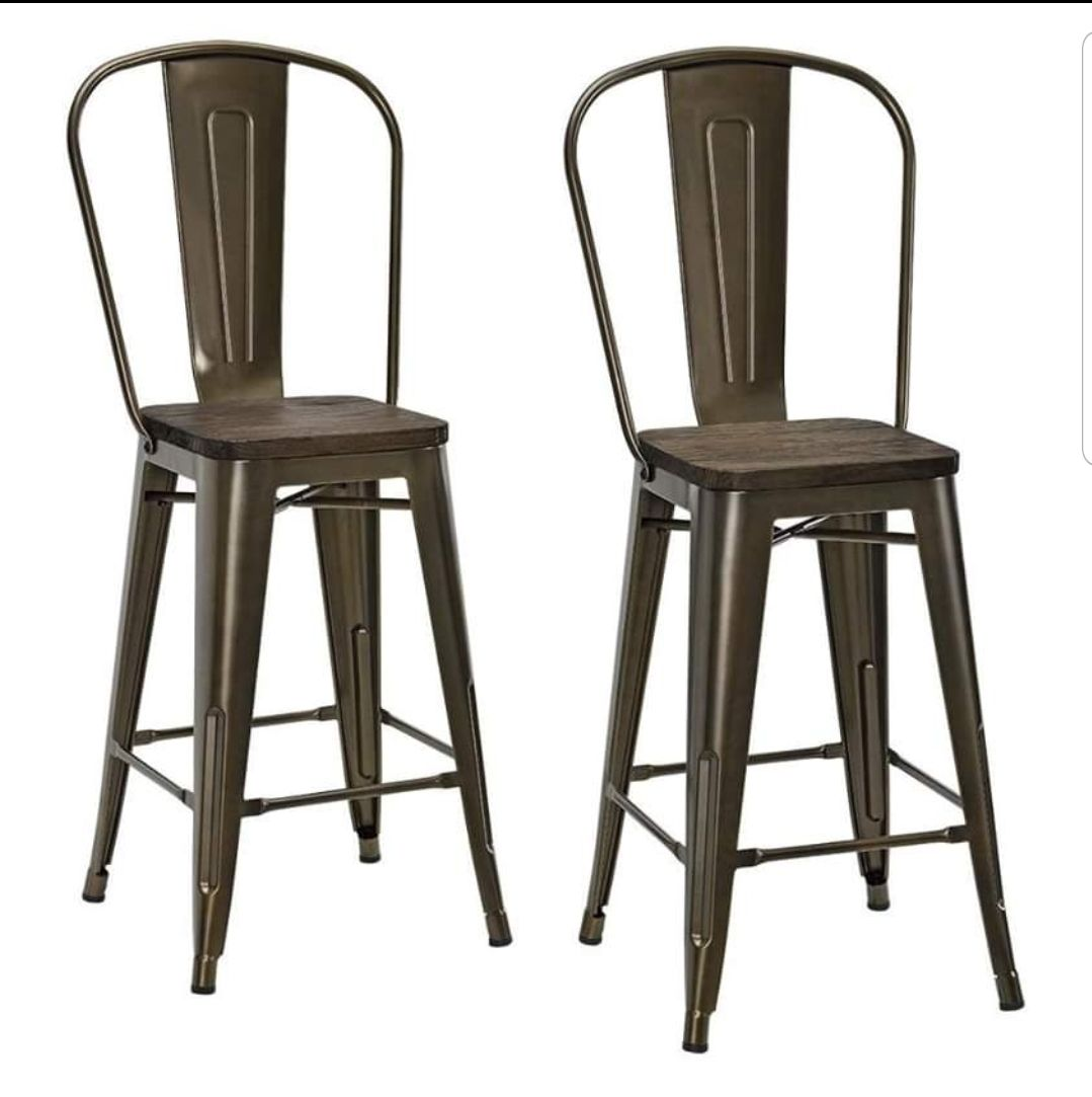 DHP P Luxor Metal Counter Stool with Woo