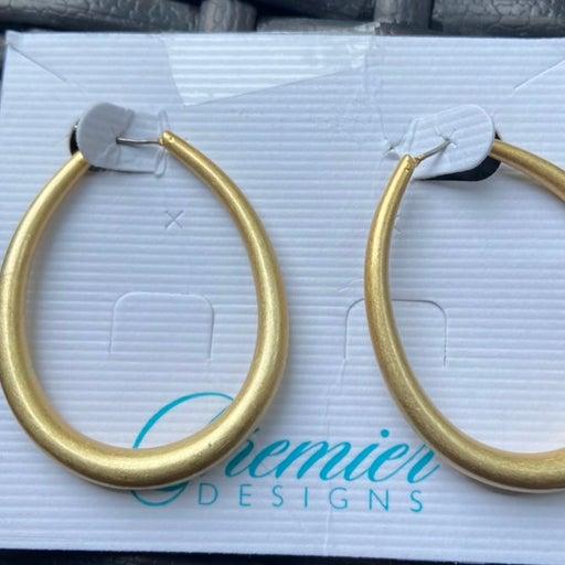 Premier designs gold companion hoop Earr