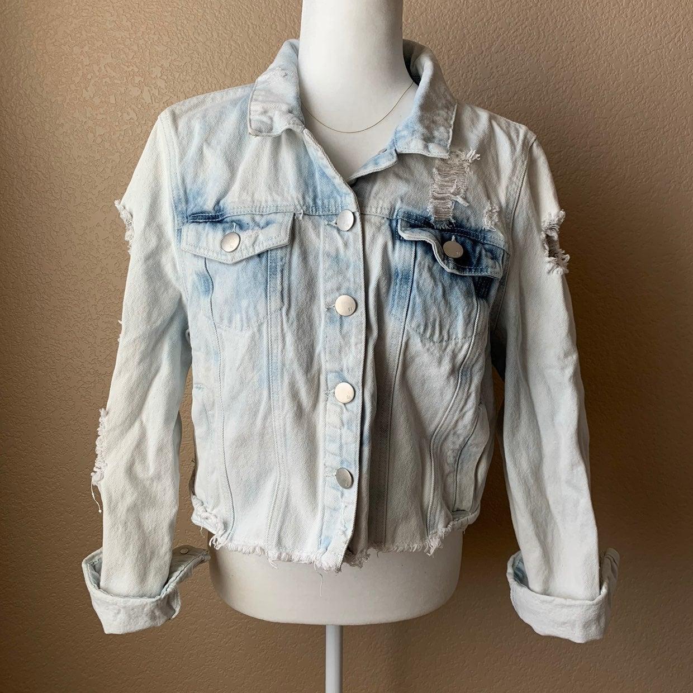 Cotton On Distressed Jean Jacket size 10