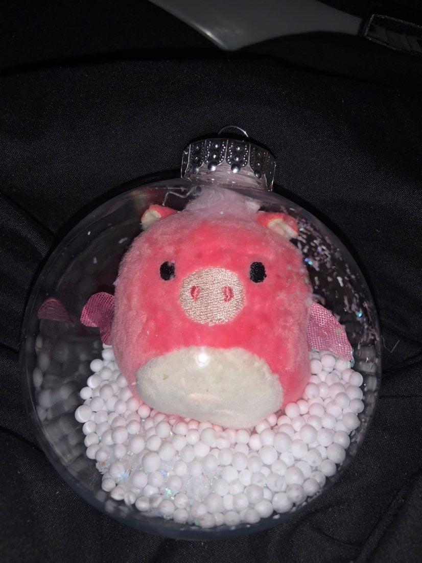 Pink squishmallow ornament