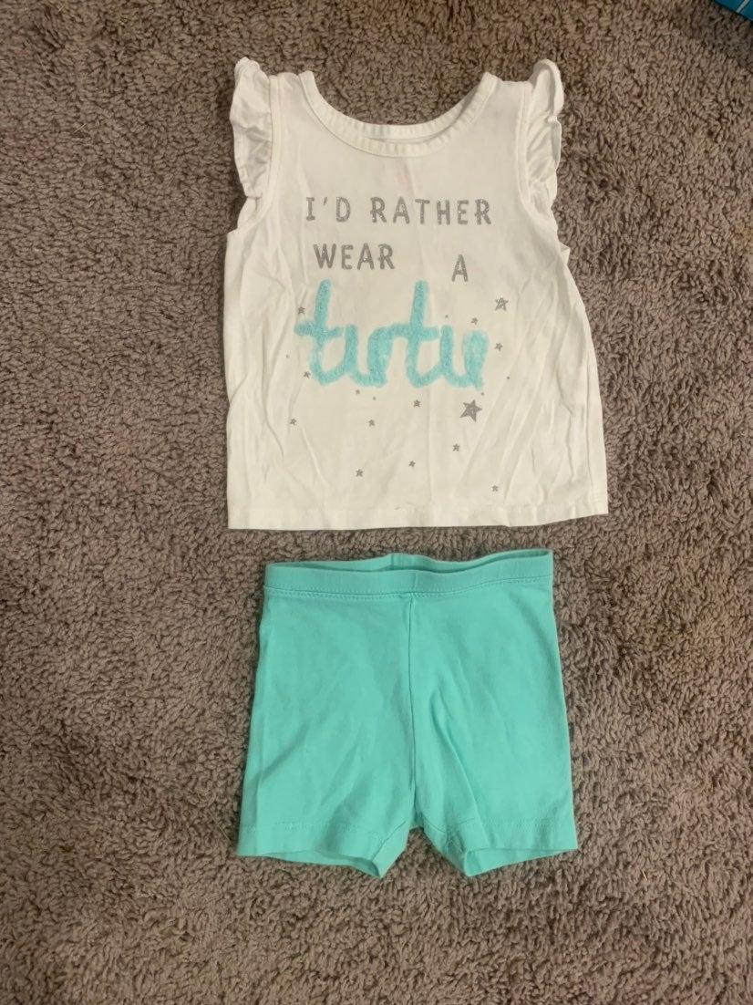 Tutu top and shorts