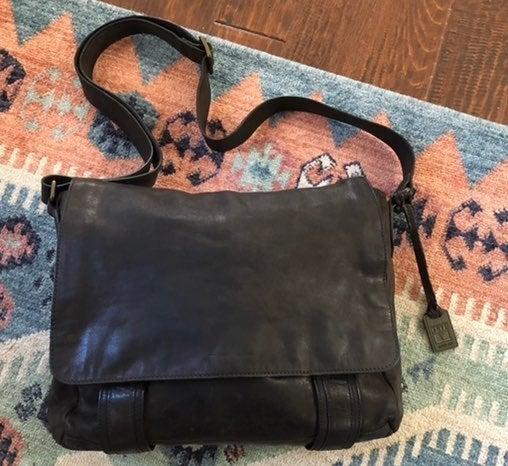 Frye Logan Messenger Leather Bag Slate