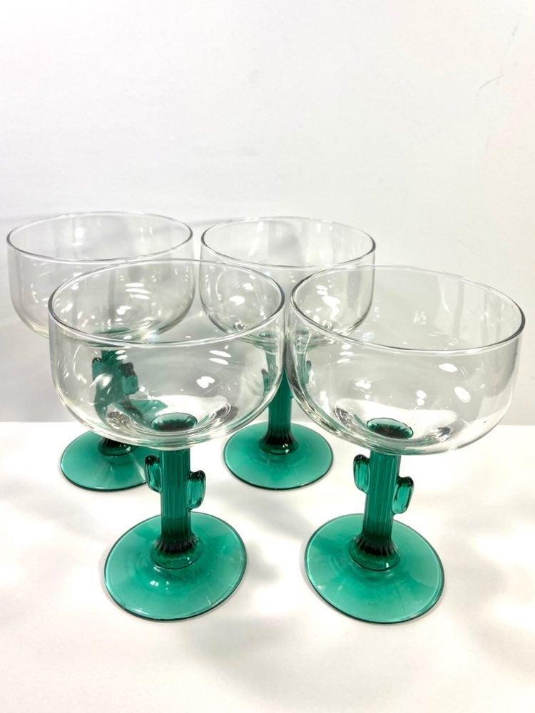Libbey Cactus Margarita Glasses Lot Of 4