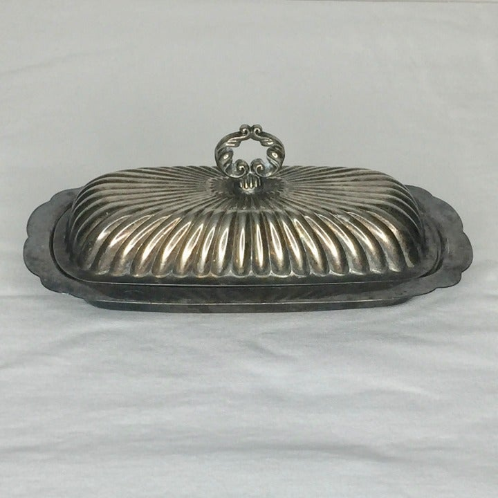 Vintage TOWLE EP 4010 Silver Butter Dish
