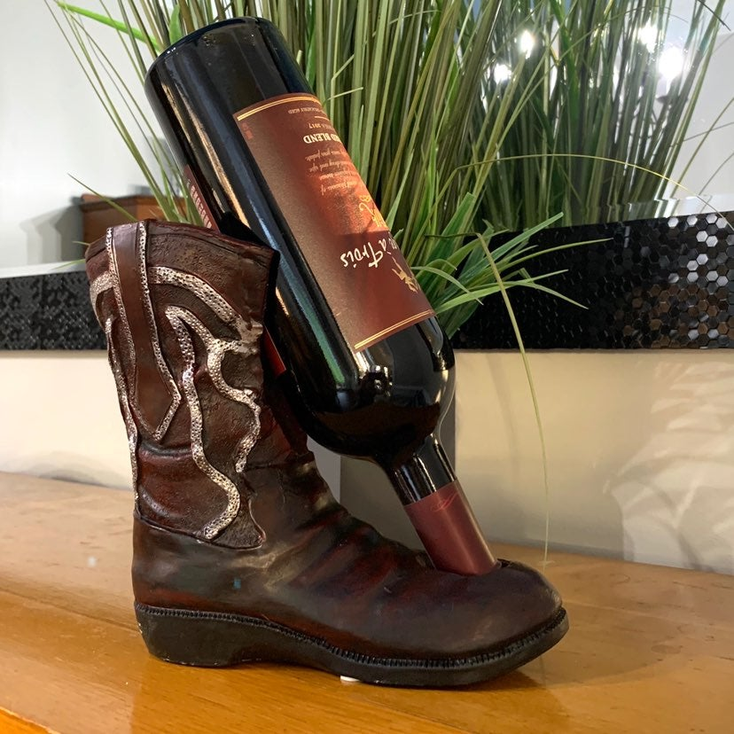 Western Boot Wine Bottle Holder