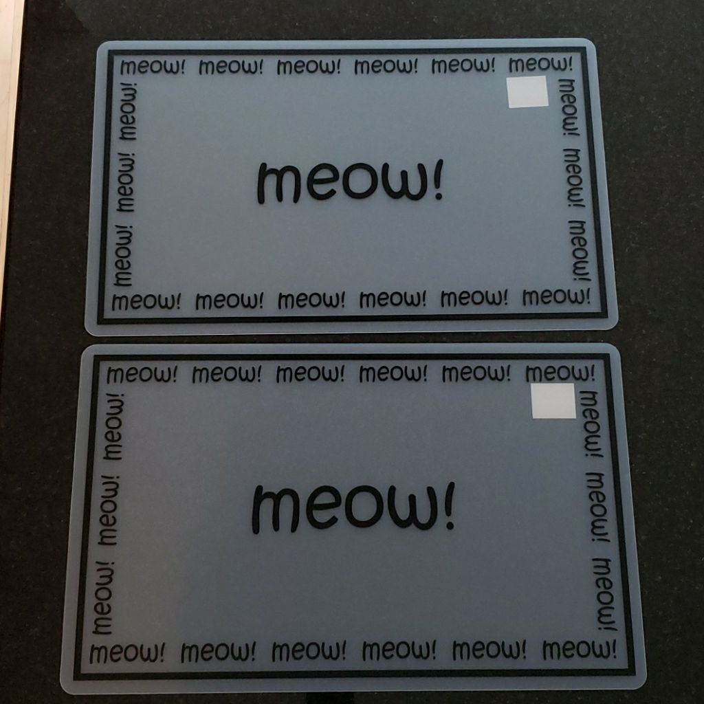 Lot of 5 cat meow placemats, NWT