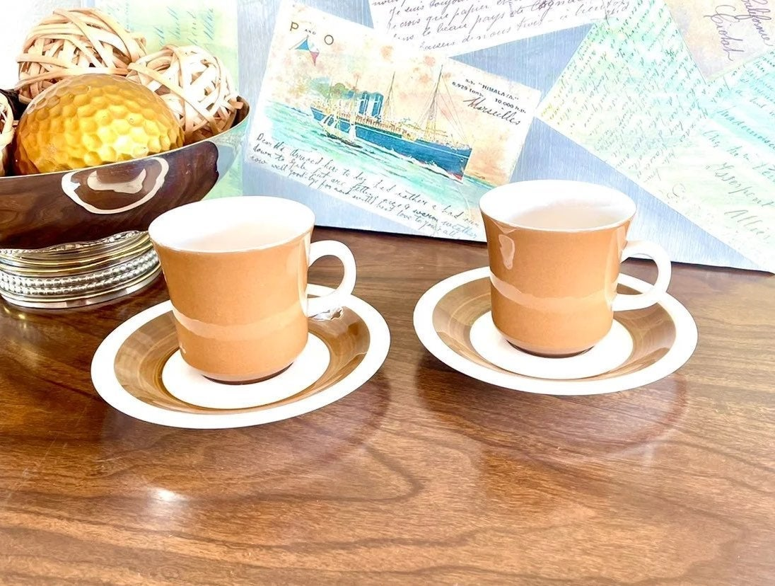 Set of 2 Mikasa- Cera-Stone Cup & Saucer