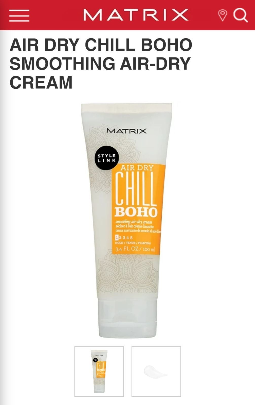 Matrix Chill Boho smoothing air dry crea