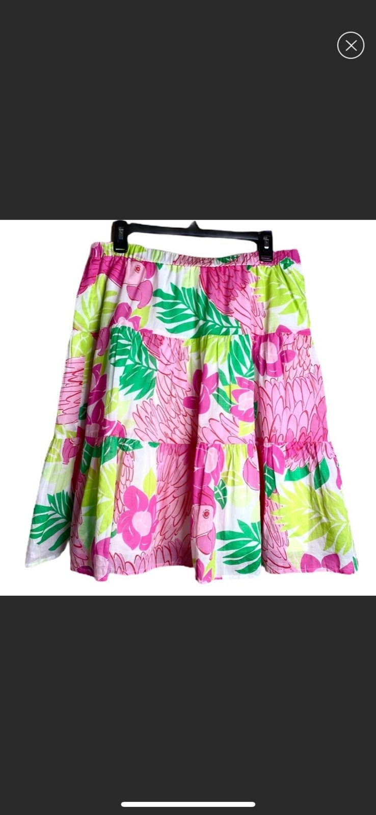 Lilly Pulitzer Mini Skirt Tiered Tropica
