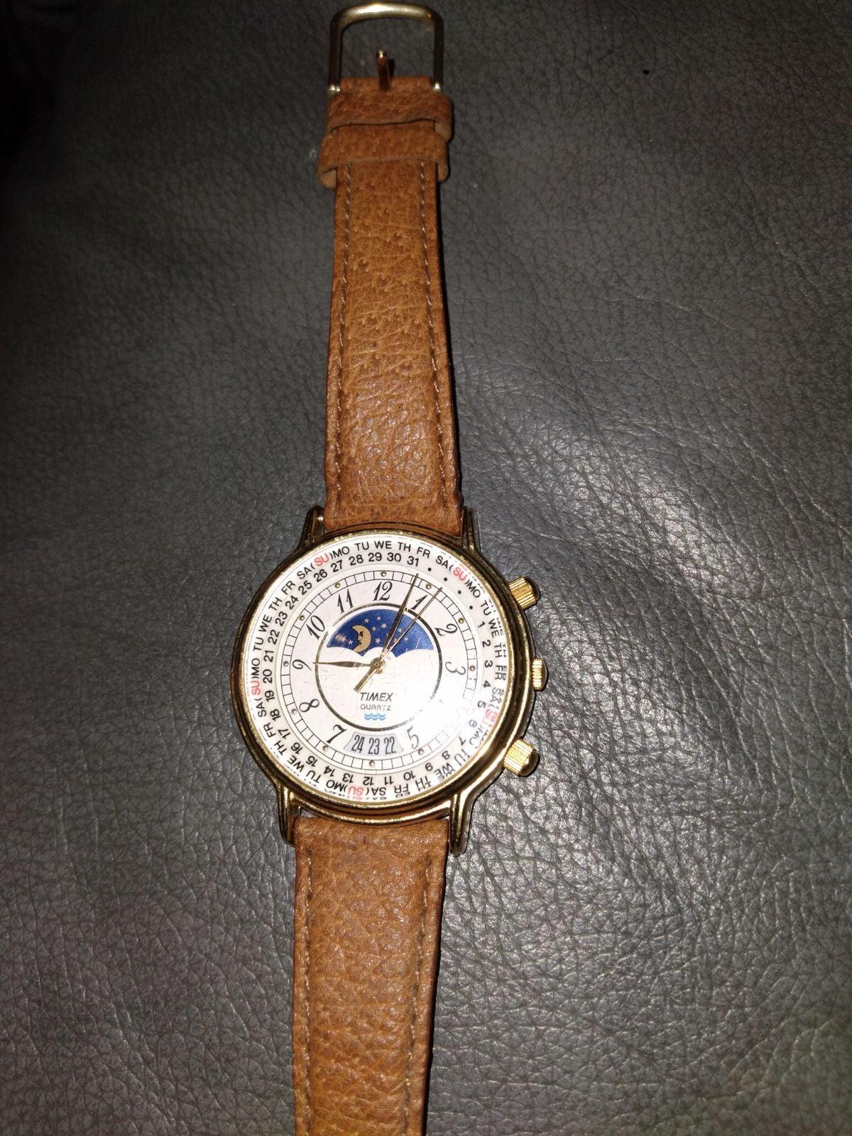 Timex moonphase vintage watch