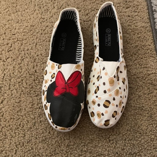 Hand painted Disney Minnie Mouse Shoes
