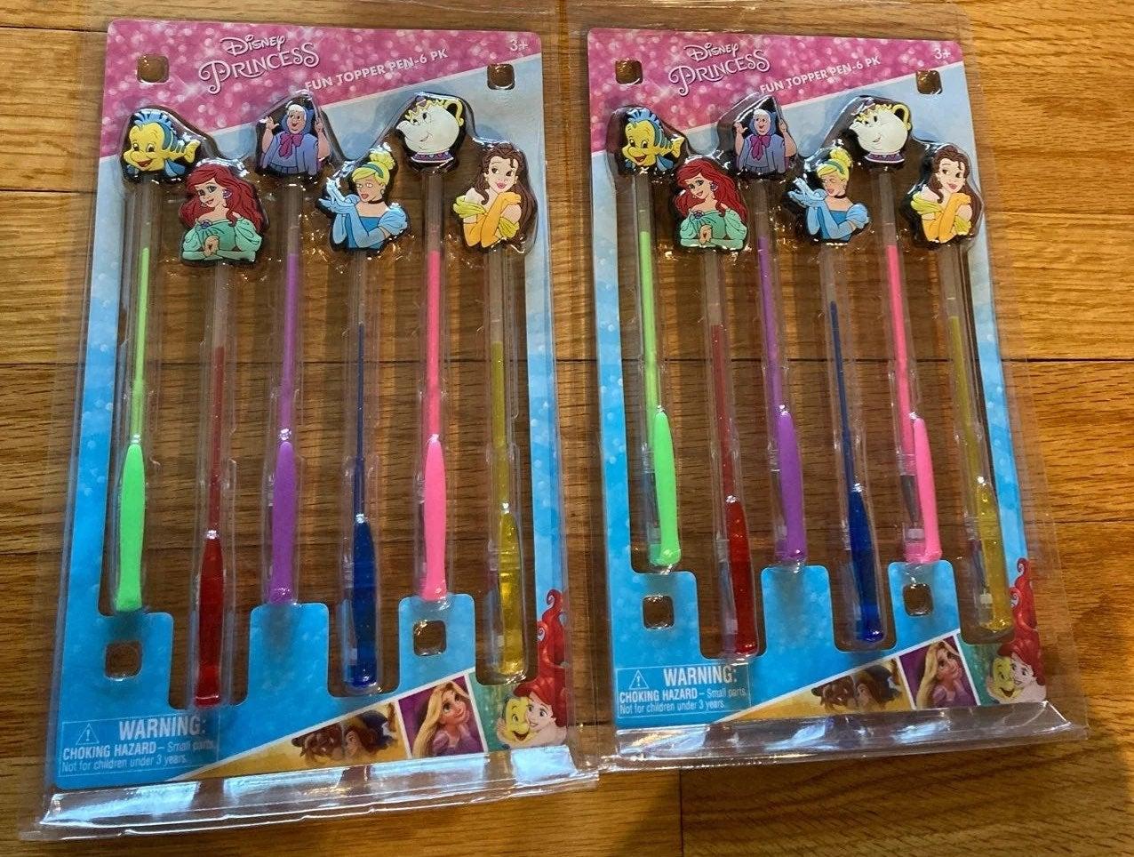TWO Disney Princess topper pen- 6pk