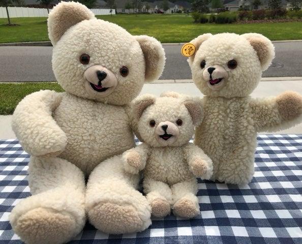 Vintage Snuggle Bear Family Bundle