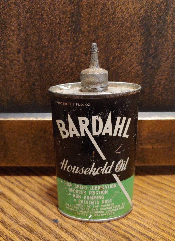 Rare Vintage BARDAHL TIN Oil CAN 3fl.oz