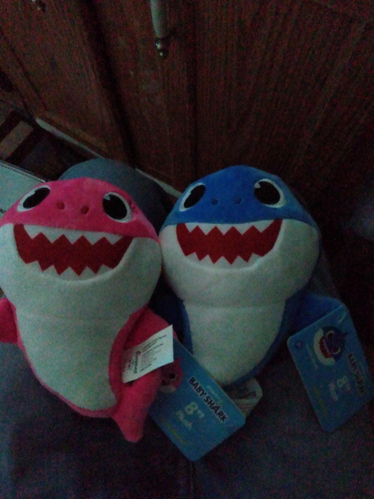 """PinkFong 8""""in Plush Baby Shark Bundle×2"""