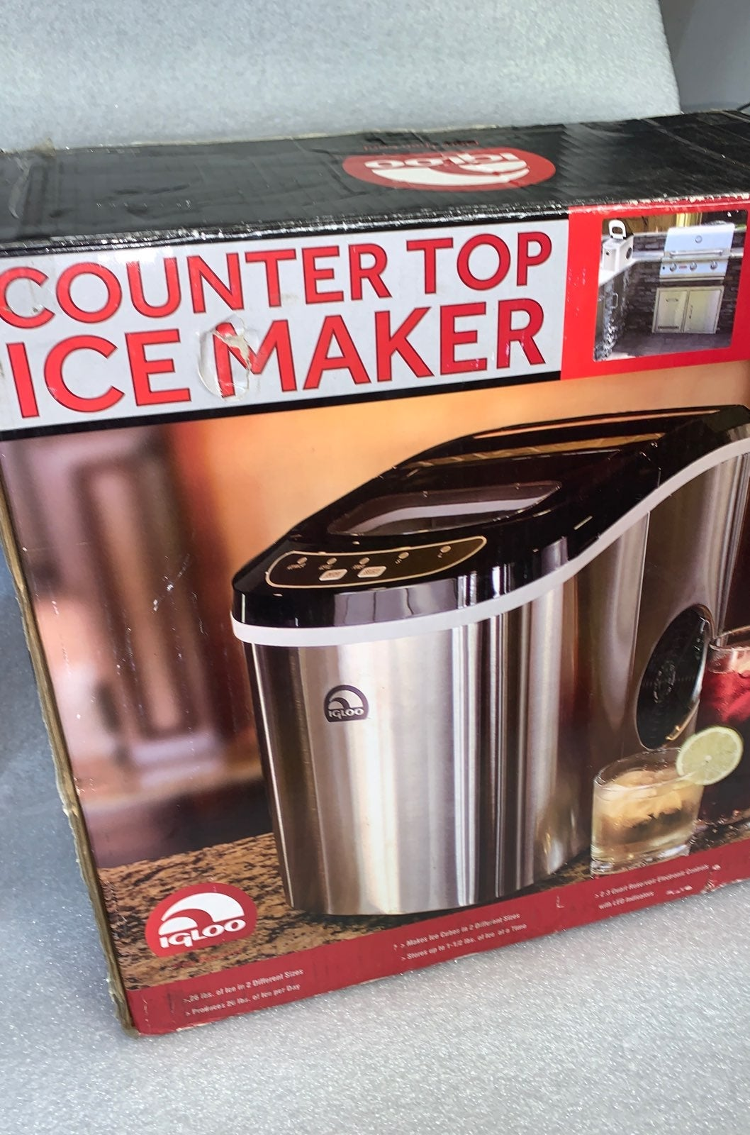 Compact ICE Maker Countertop