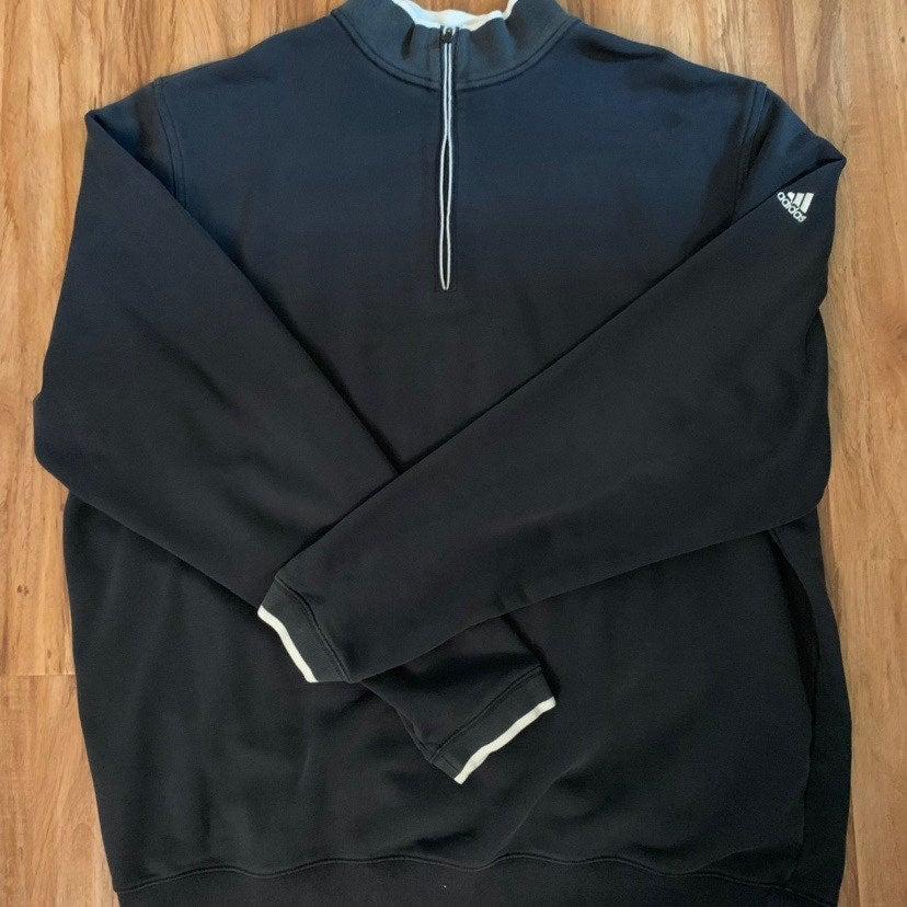 Adidas Quarter Zip Sweater Long Sleeve