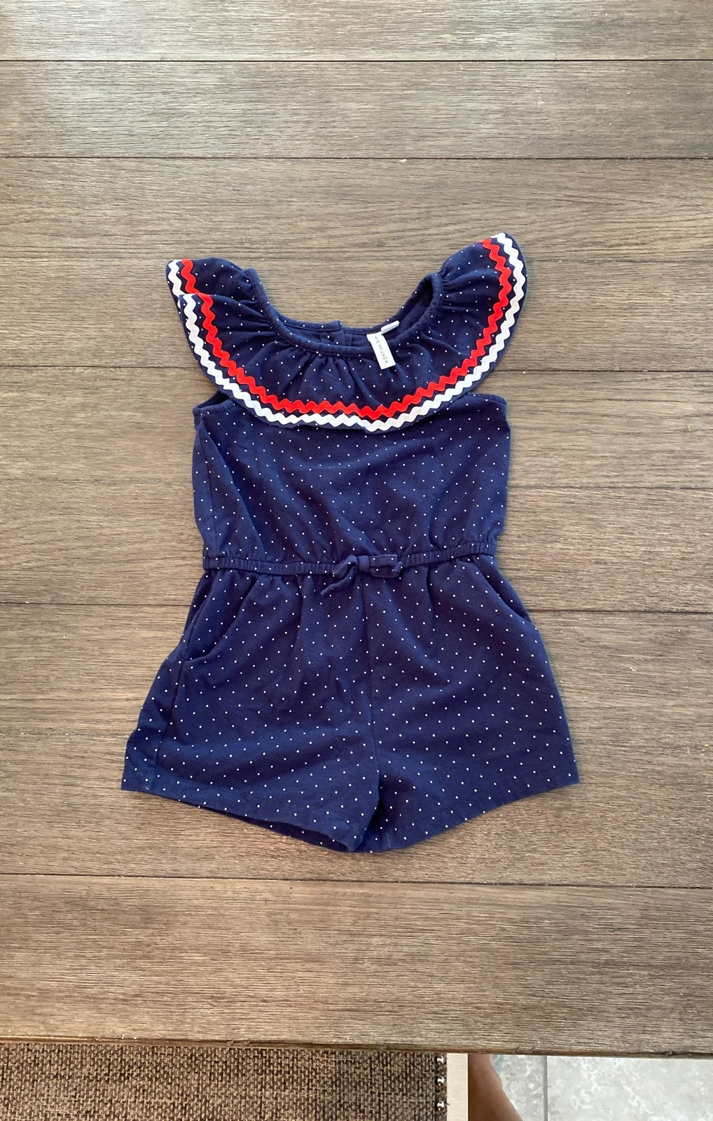 Janie and Jack red white and blue romper