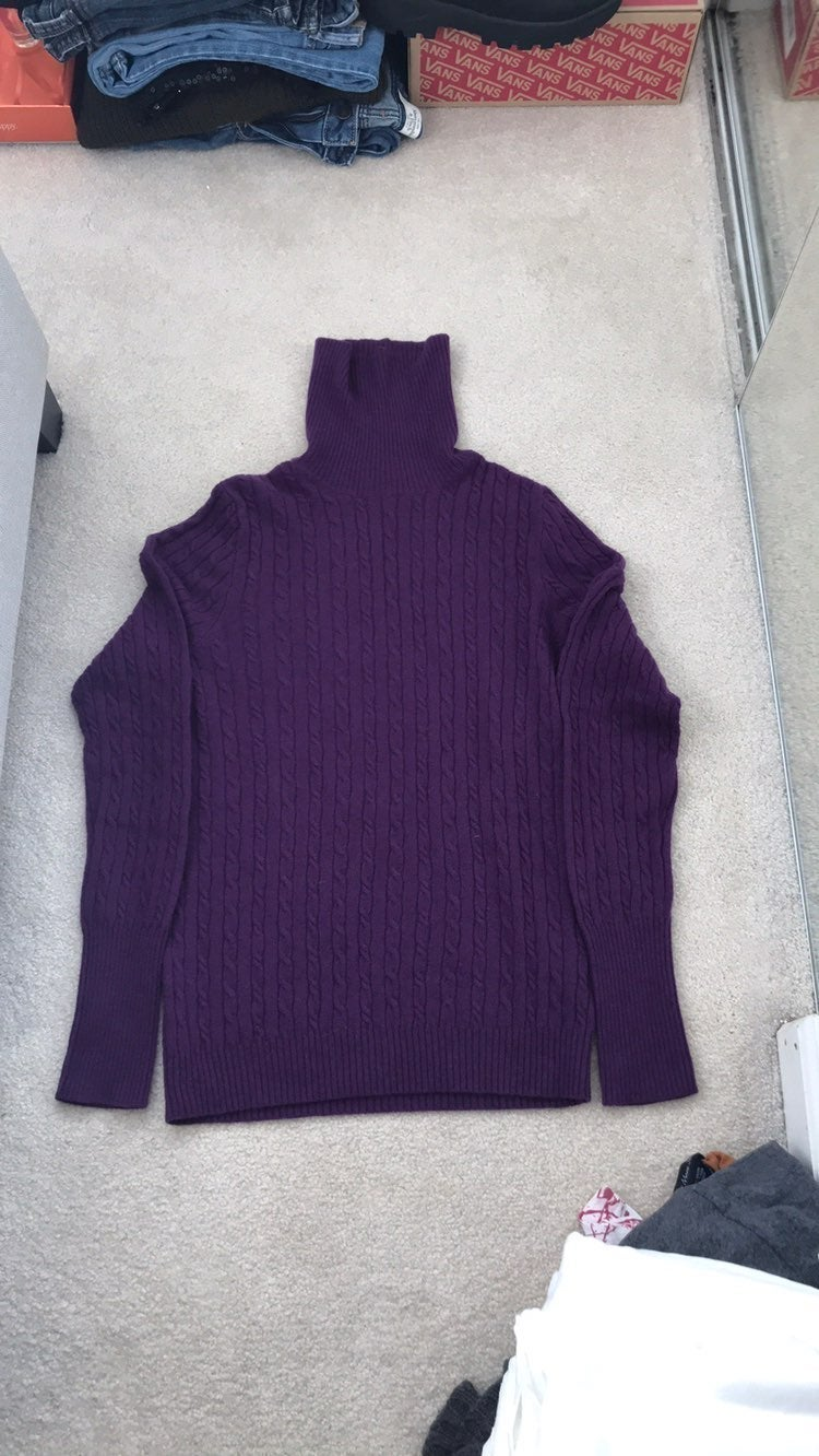 JCrew cable cashmere turtleneck